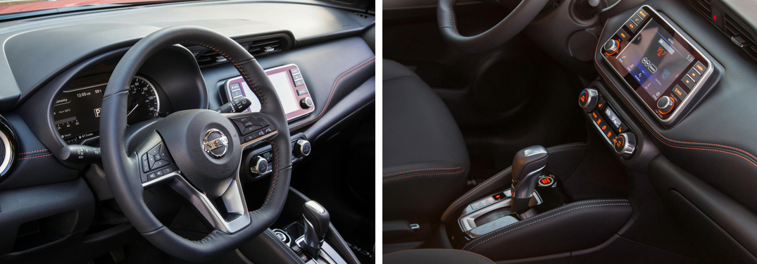 Collage of 2018 Nissan Kicks interior images