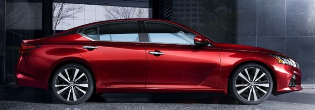 red 2020 Nissan Altima side view