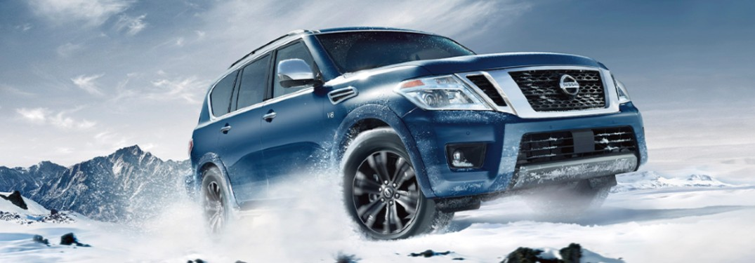 2020 Nissan Armada in the snow