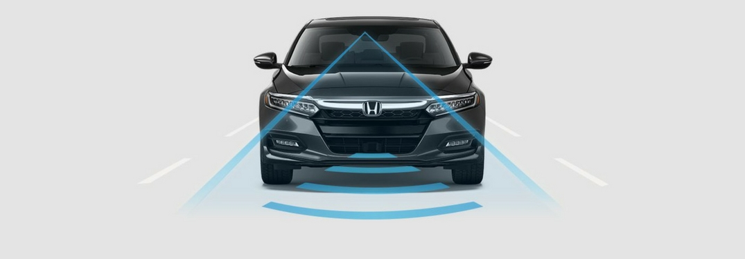 2018 Honda Accord with a sensor for safety features
