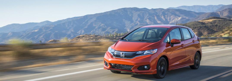 2019 Honda Fit driving down road