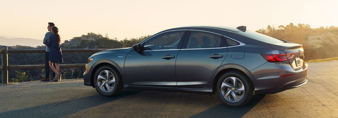 2019 Honda Insight parked by a cliff