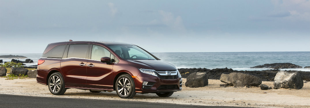 2018 Honda Odyssey parked by a shore