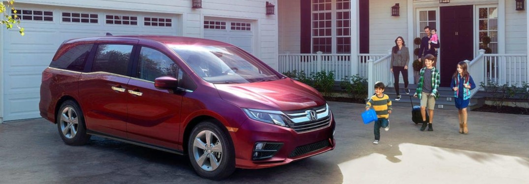 2019 Honda Odyssey parked in front of a house