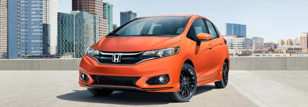 2019 Honda Fit parked on a parking ramp