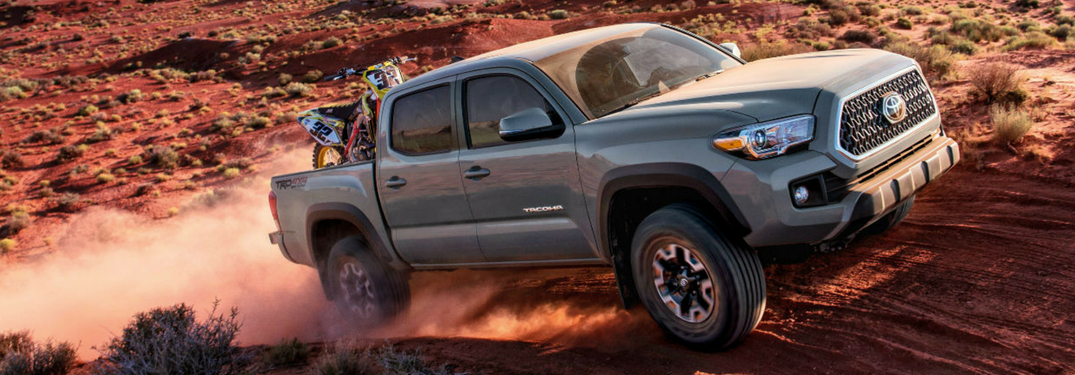 full view of 2018 tacoma driving