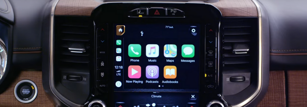 Screenshot of 2019 Ram 1500 Apple CarPlay experience