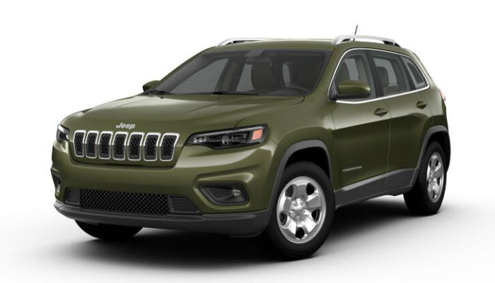 What are the Color Options for the 2019 jeep Cherokee?