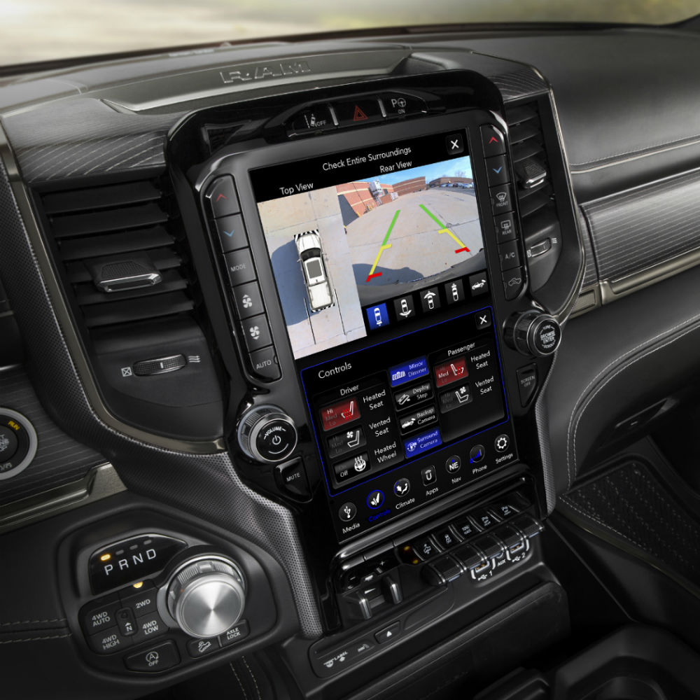 How Do I Use the Color Touchscreen Display in My Ram Truck?
