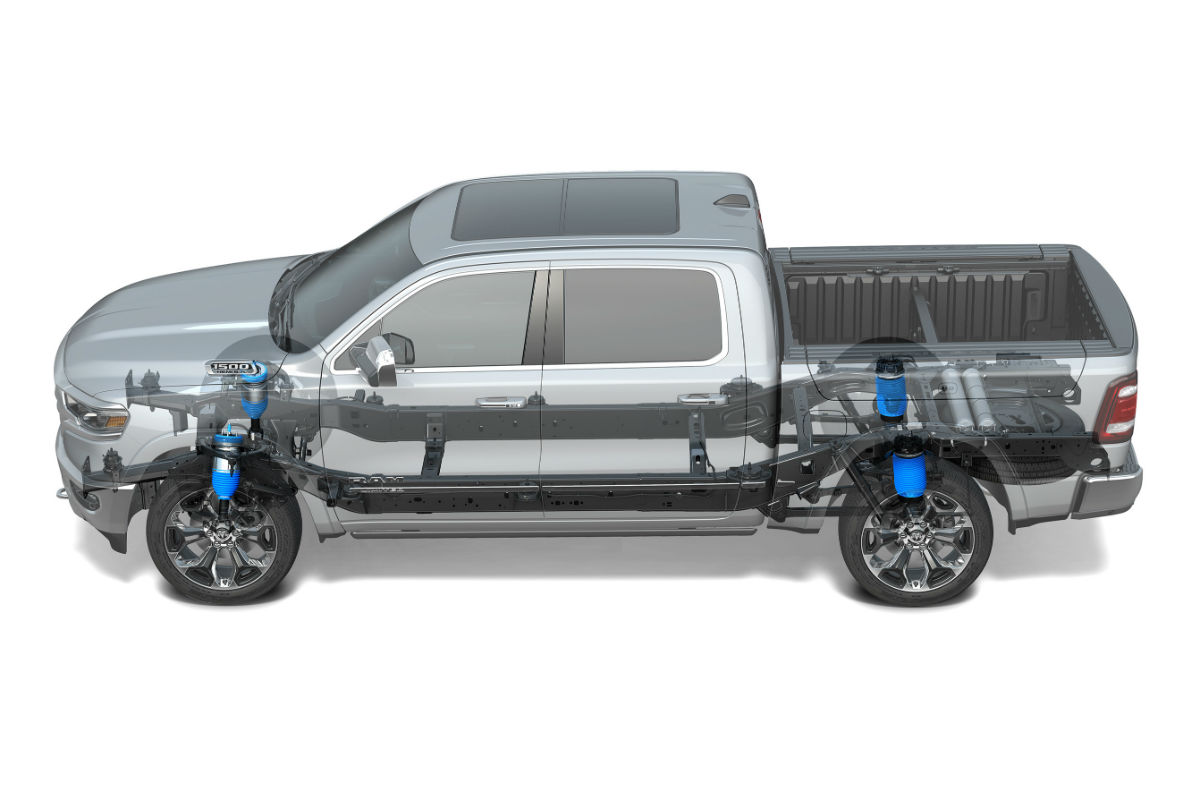 What Does the 4-Corner Air Suspension of the 2019 Ram 1500 Do?