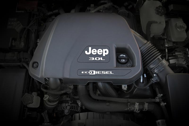EcoDiesel engine in 2020 Jeep Wrangler