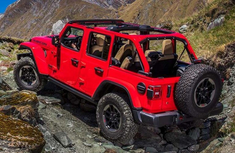 2020 Jeep Wrangler in red