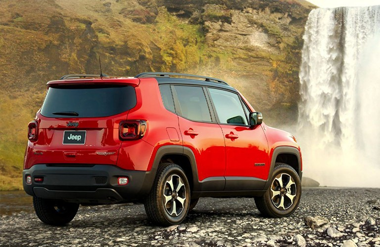 2020 Jeep Renegade rear in red