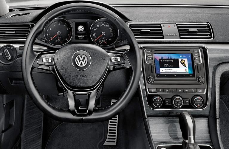 2018 volkswagen passat interior dashboard close up