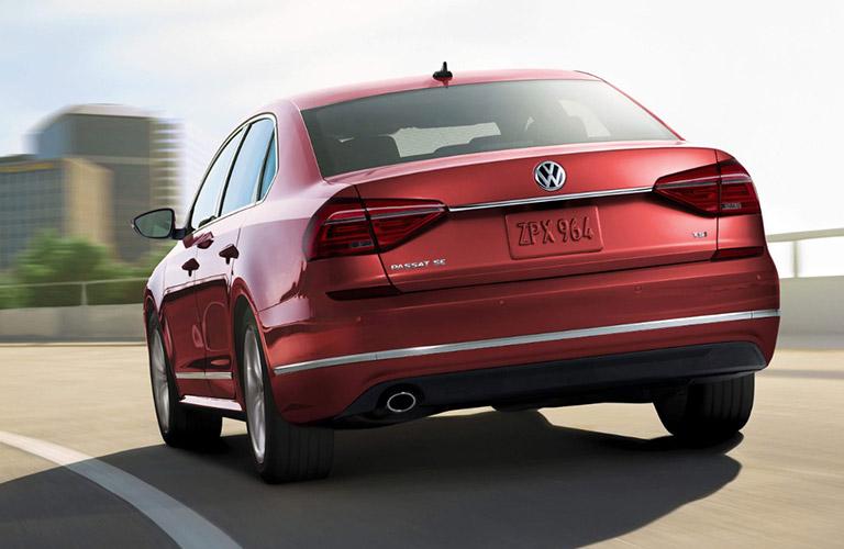 2018 volkswagen passat rear view driving