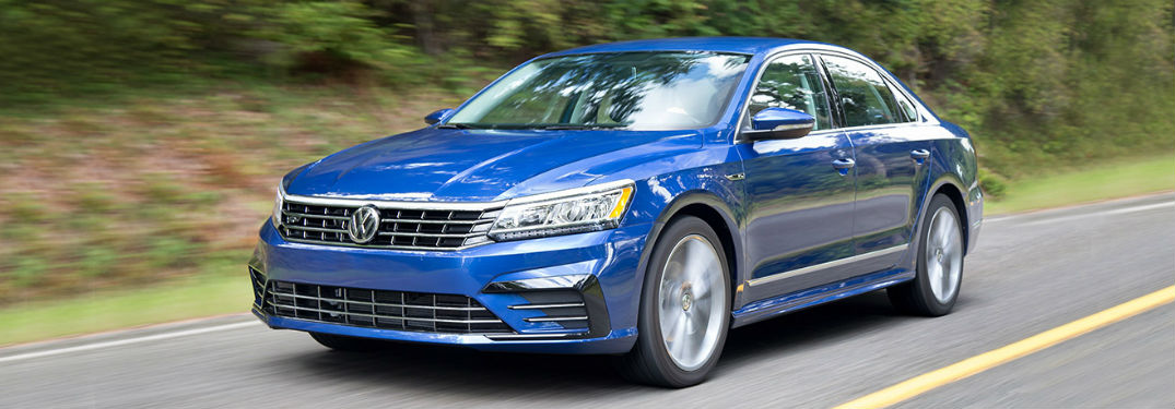 2018 volkswagen passat full view while driving