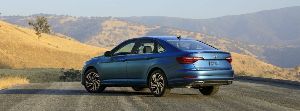 2019 volkswagen jetta parked rear view