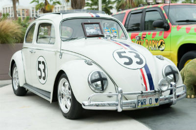 Herbie Love Bug VW vehicle exterior front fascia and passenger side