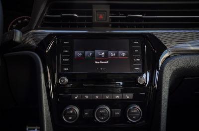 2020 VW Passat interior close up of display screen