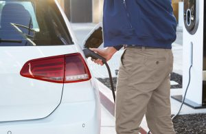 vw e-golf being charged