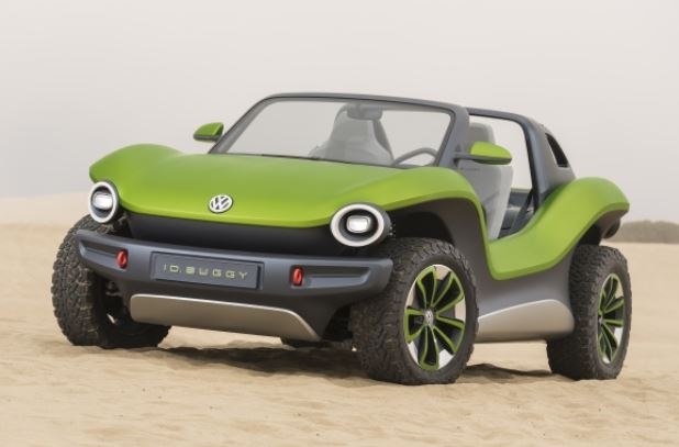 vw id buggy in the sand