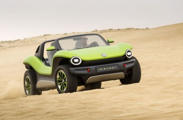 vw id buggy front view in sand