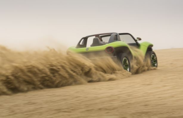 vw id buggy kicking up sand