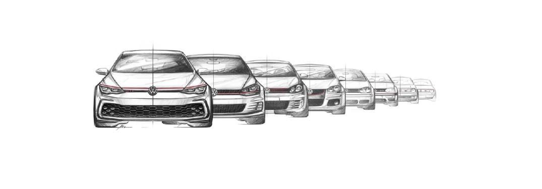 Golf GTI generations drawings