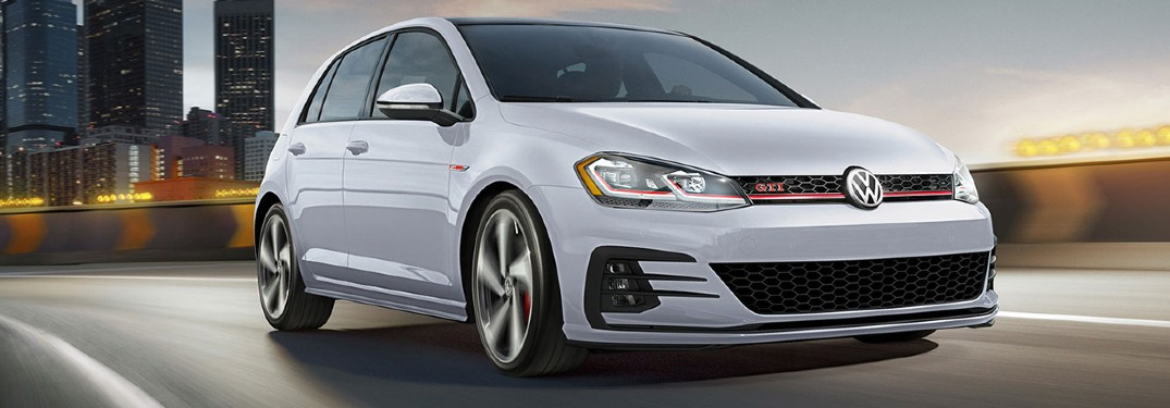 2020 Volkswagen Golf GTI driving in city