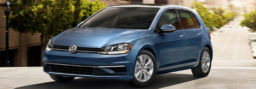 2020 VW Golf driving down the street