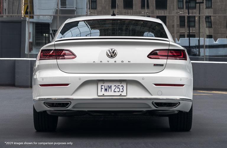 rear of white 2020 Volkswagen Arteon