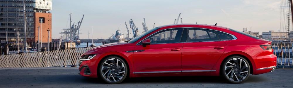 side view of European model of the 2021 Volkswagen Arteon