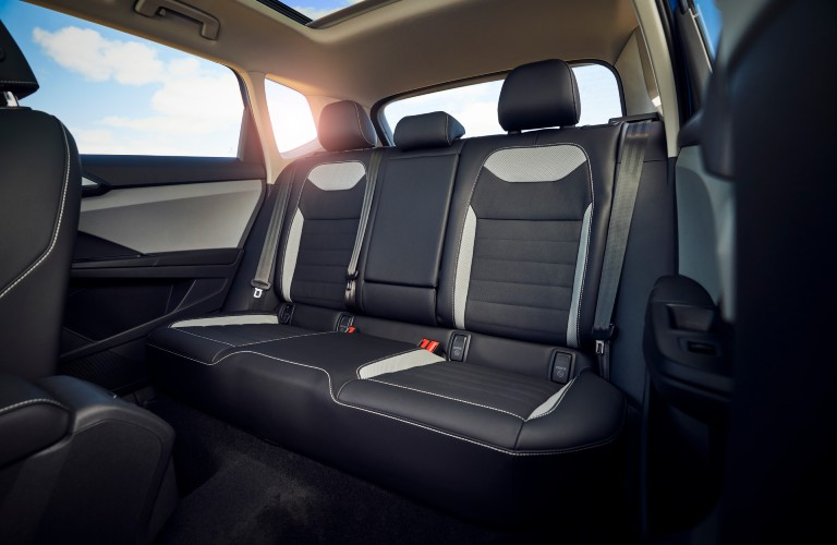 rear seats of the 2022 Volkswagen Taos