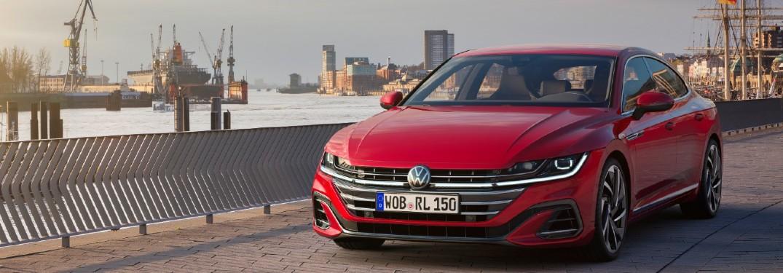 2021 Volkswagen Arteon driving over bridge