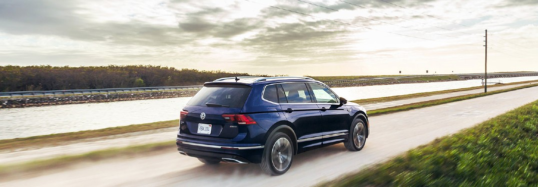 2021 Volkswagen Tiguan driving down road