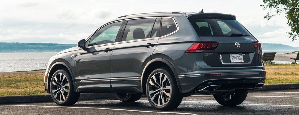 2021 Volkswagen Tiguan parked by water
