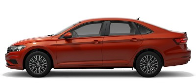 2021 VW Jetta in habanero orange