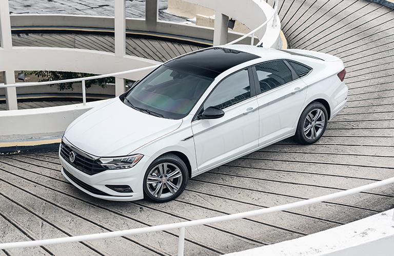 2021 Volkswagen Jetta driving in parking garage