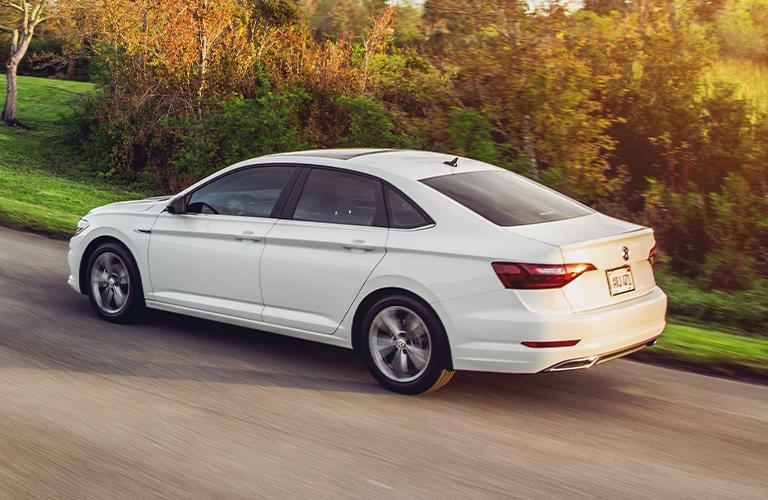 2021 Volkswagen Jetta driving in neighborhood