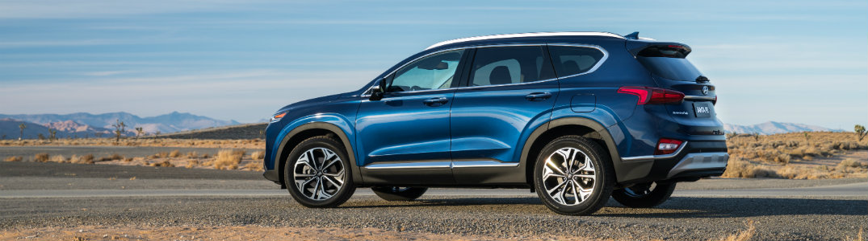 2019 Hyundai Santa Fe side exterior blue