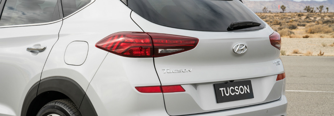 2019 Hyundai Tuscon fuel door close-up