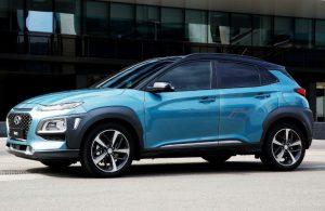 2018 Hyundai Kona side exterior blue
