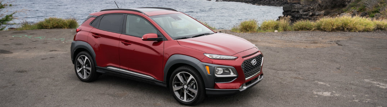 2018 Hyundai Kona side exterior red