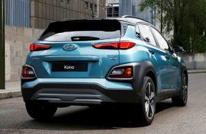 2018 Hyundai Kona exterior back blue