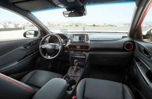 2018 Hyundai Kona interior dash and front seats