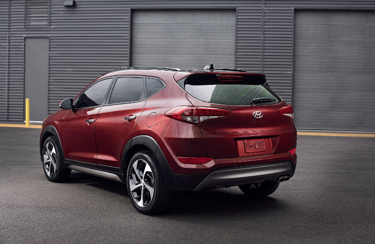 2018 Hyundai Tucson exterior back red