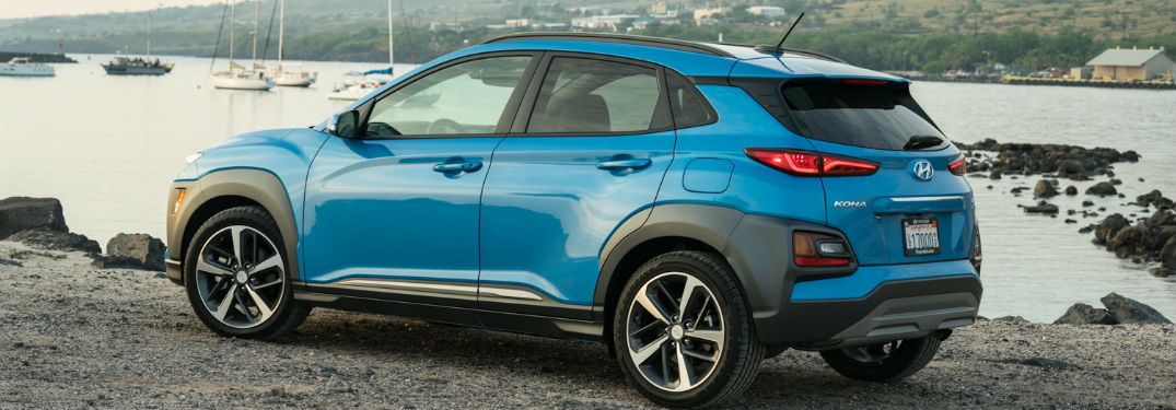 2018 Hyundai Kona parked by water
