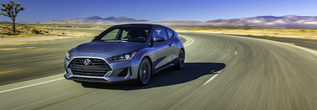 2019 Hyundai Veloster driving down road