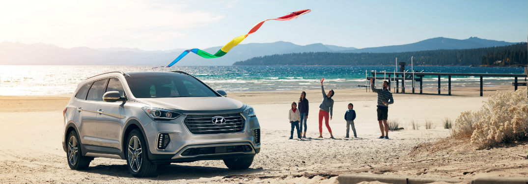 2018 Hyundai Santa Fe XL on the beach