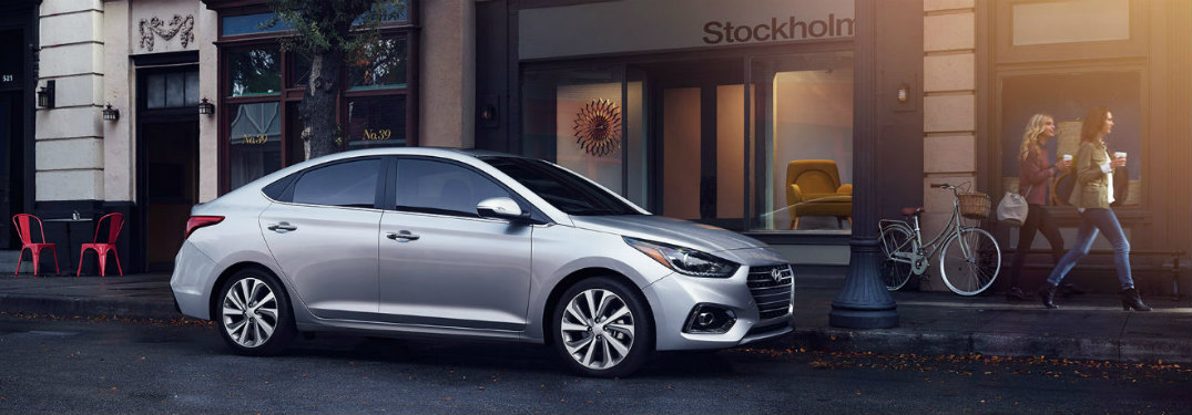 2018 Hyundai Accent parked on road